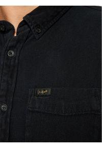 Lee Koszula Button Down L880PA01 Czarny Regular Fit. Typ kołnierza: button down. Kolor: czarny