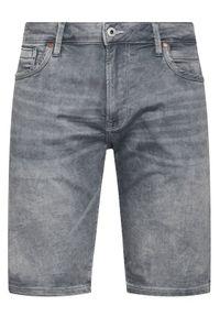Pepe Jeans Szorty jeansowe GYMDIGO Stanley PM800855 Szary Slim Fit. Kolor: szary