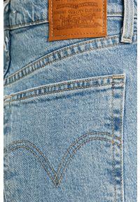 Niebieskie jeansy Levi's® na spotkanie biznesowe, biznesowe, z podwyższonym stanem