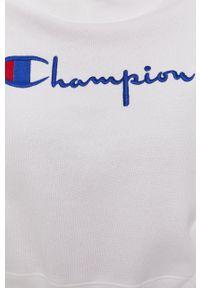 Champion - Bluza. Kolor: biały. Materiał: dzianina. Wzór: aplikacja