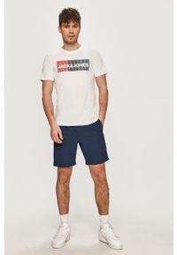 Jack & Jones - T-shirt. Okazja: na co dzień. Kolor: biały. Wzór: nadruk. Styl: casual