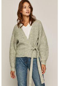 Turkusowy sweter rozpinany medicine casualowy, na co dzień