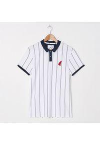 Biała koszulka polo House polo, w paski