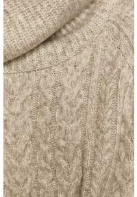 medicine - Medicine - Sweter Herbaria. Typ kołnierza: golf. Kolor: szary. Długość rękawa: raglanowy rękaw. Wzór: ze splotem