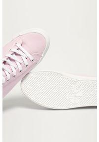 Różowe tenisówki Calvin Klein Jeans na obcasie, z cholewką