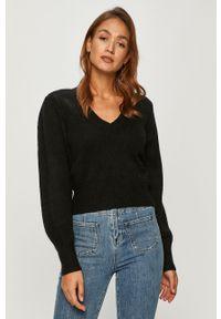 Czarny sweter Pepe Jeans z długim rękawem, casualowy