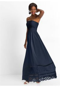 Niebieska sukienka bonprix na ślub cywilny, wizytowa