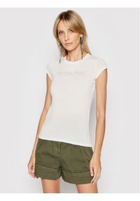 Patrizia Pepe T-Shirt 2M4063/A9A1-W146 Beżowy Regular Fit. Kolor: beżowy