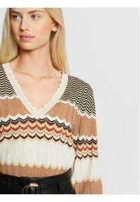 Morgan Sweter 211-MCLARA Beżowy Regular Fit. Kolor: beżowy #4