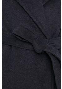 Niebieski płaszcz Answear Lab wakacyjny, bez kaptura