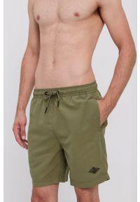 Superdry - Szorty kąpielowe. Kolor: zielony. Materiał: tkanina