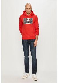 Jack & Jones - Bluza bawełniana. Okazja: na co dzień. Kolor: czerwony. Materiał: bawełna. Wzór: nadruk. Styl: casual