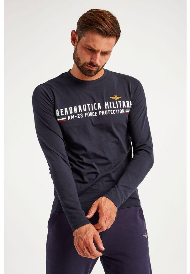 Aeronautica Militare - LONGSLEEVE AERONAUTICA MILITARE. Materiał: bawełna, guma. Długość rękawa: długi rękaw. Wzór: napisy, aplikacja