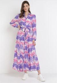 Born2be - Fioletowa Sukienka Nephohsa. Kolor: fioletowy