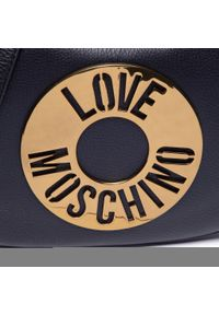 Love Moschino - Torebka LOVE MOSCHINO - JC4287PP0CKO0000 Nero. Kolor: czarny. Wzór: aplikacja. Materiał: skórzane. Styl: klasyczny