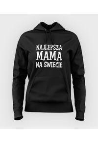 MegaKoszulki - Bluza damska z kapturem Najlepsza mama na świecie. Typ kołnierza: kaptur