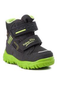 Szare buty zimowe Superfit z cholewką, na spacer