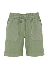 Cellbes Szorty ze ściągaczem w pasie jasne khaki female zielony 54. Okazja: na co dzień. Kolor: zielony. Materiał: tkanina, guma. Styl: casual