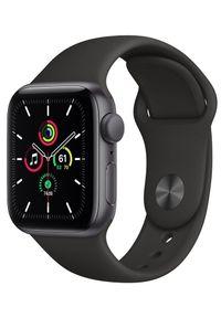 APPLE - Apple Watch SE, 40mm Space Gray Aluminium Case with Black Sport Band (MYDP2HC/A). Rodzaj zegarka: smartwatch. Kolor: szary. Styl: sportowy