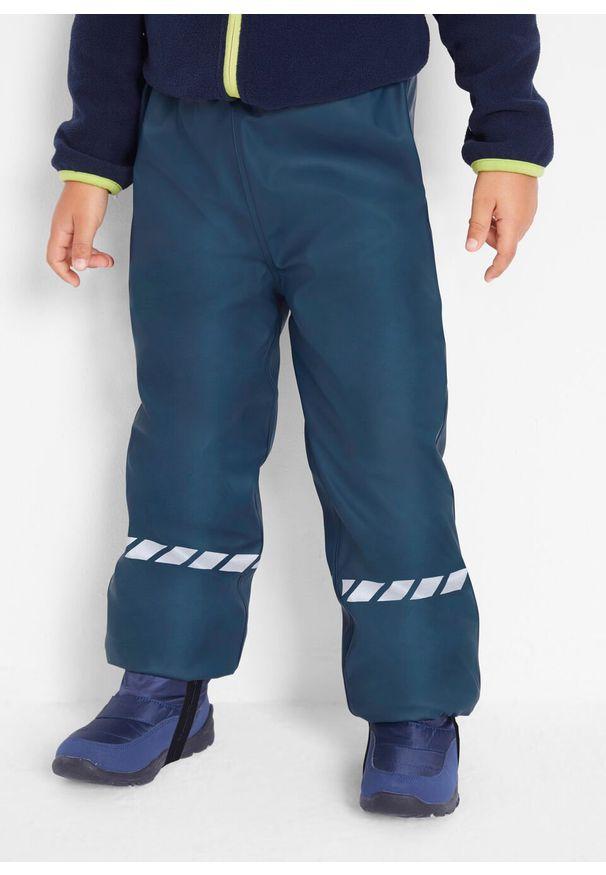 Niebieskie spodnie bonprix w paski