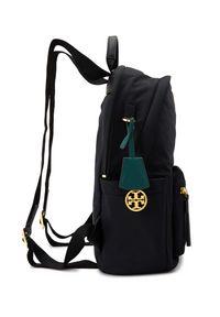 Tory Burch - TORY BURCH - Czarny plecak Piper Zip. Kolor: czarny. Materiał: materiał