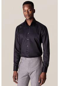 Eton - ETON - Koszula. Kolor: czarny. Materiał: tkanina. Długość rękawa: długi rękaw. Długość: długie. Wzór: gładki