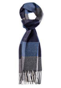 Niebieski szalik Lancerto na zimę, elegancki
