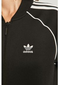 Czarna bluza rozpinana adidas Originals z aplikacjami, na co dzień