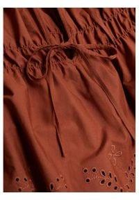 mango - Mango Bluzka Vera 87077123 Brązowy Relaxed Fit. Kolor: brązowy