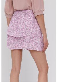 only - Only - Spódnica. Kolor: fioletowy. Materiał: tkanina