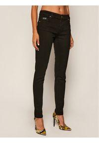 Czarne jeansy slim Versace Jeans Couture