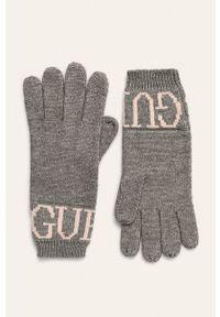 Szare rękawiczki Guess Jeans