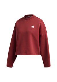 Adidas - Bluza damska adidas 3-Stripes Doubleknit GC6944. Materiał: skóra, dzianina, poliester, materiał. Wzór: paski, ze splotem. Sport: fitness #6