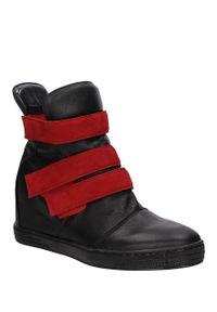 Casu - sneakersy casu 1898. Kolor: czarny, wielokolorowy, czerwony. Materiał: skóra, materiał. Szerokość cholewki: normalna. Sezon: zima
