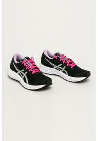 Czarne buty sportowe Asics z okrągłym noskiem, z cholewką