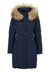 Niebieska kurtka SAKI elegancka, na zimę