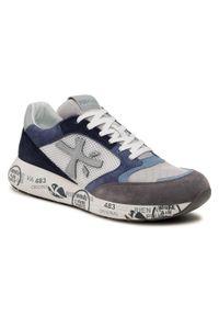 Premiata - Sneakersy PREMIATA - Zaczac 4613 Light Grey/Light Blue/Navy. Okazja: na co dzień. Kolor: szary. Materiał: zamsz, skóra ekologiczna, materiał, skóra. Szerokość cholewki: normalna. Styl: casual, sportowy, elegancki