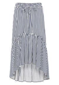 Niebieska spódnica bonprix w paski, długa