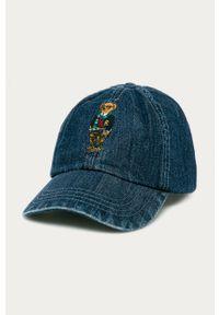 Niebieska czapka z daszkiem Polo Ralph Lauren z aplikacjami
