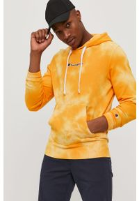 Żółta bluza nierozpinana Champion na co dzień, casualowa, z kapturem