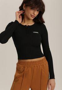 Czarna bluzka z długim rękawem Renee