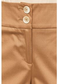 Beżowe spodnie materiałowe Pennyblack z podwyższonym stanem, gładkie