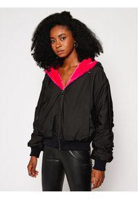 Czarna kurtka przejściowa Karl Lagerfeld z dekoltem karo