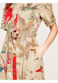 Brązowa sukienka koszulowa Desigual #5