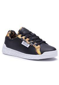 Versace Jeans Couture - Sneakersy VERSACE JEANS COUTURE - E0VWASP1 71973 M27. Okazja: na co dzień. Kolor: czarny. Materiał: skóra. Szerokość cholewki: normalna. Sezon: lato. Styl: elegancki, sportowy, casual