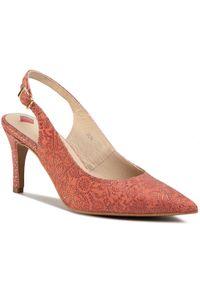 Pomarańczowe sandały Maccioni