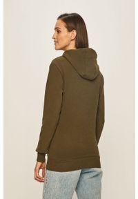Zielona bluza Ellesse z nadrukiem, z kapturem, długa, z długim rękawem