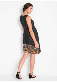 Czarna sukienka bonprix moda ciążowa, na lato