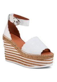 Białe sandały Kanna na co dzień, casualowe