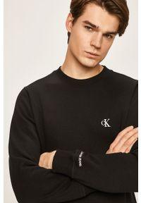 Czarna bluza nierozpinana Calvin Klein Jeans bez kaptura, na co dzień